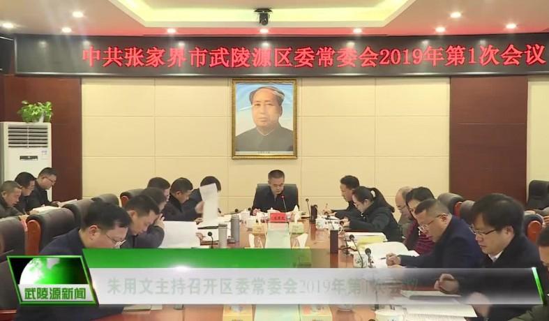 【视频】朱用文主持召开区委常委会2019年第1次会议