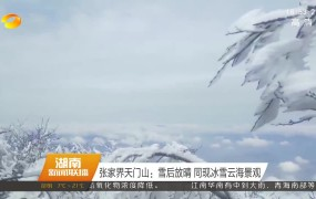[超清]张家界天门山:雪后放晴 同现冰雪云海景观