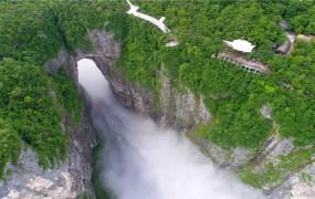天门山:云海彷如水墨画卷 暑期半月接待近30万人