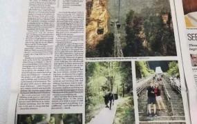 张家界登《温哥华太阳报》,光看标题以为是广告!