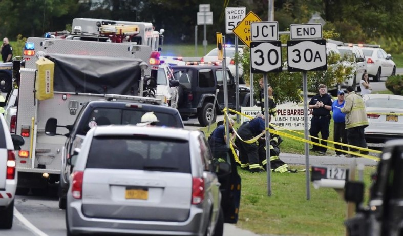 纽约州车祸致20人死 系美国近10年来最严重交通事故