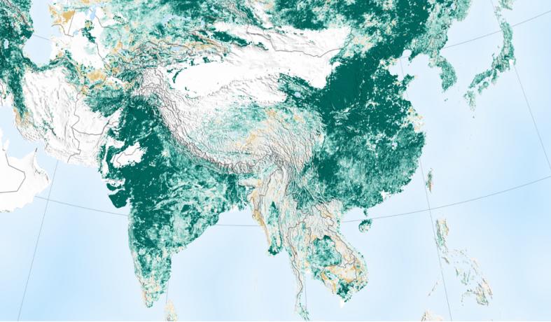 美国国家航空航天局:全球绿化,中印领先