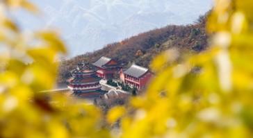 天门山的秋景